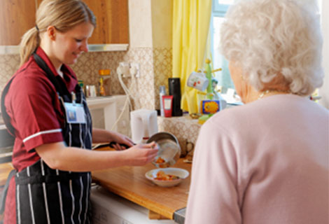 Care Worker in the Kitchen